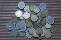 Several coins of the European Union Stock Images