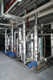 Several cold pipes in a factory Stock Photography