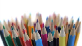 Several color pencils stock video footage