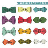 Several colored  bow tie. Set of colored bow tie  with.Hipsters Fashion . Vector Illustration Royalty Free Stock Photos