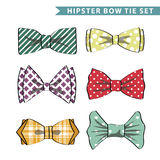 Several colored  bow tie with simple pattern Royalty Free Stock Image