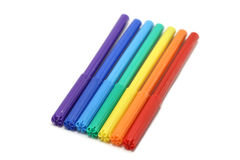 Several colored felt-tip pens Royalty Free Stock Images