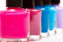 Several colored nail polish Royalty Free Stock Photos