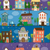 Several colorful and cute house designs Stock Photo