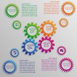 Several colorful gears of infographic Royalty Free Stock Photo