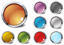 Several colorful icons royalty free illustration
