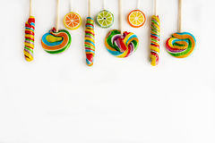 Several colorful lollipops Stock Image