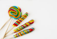 Several colorful lollipops Royalty Free Stock Images