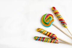 Several colorful lollipops Stock Images