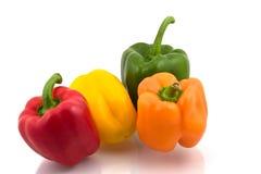 Several colorful pimentos Stock Photos