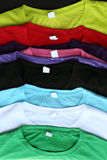 Several colorful t-shirts Stock Photography
