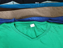 Several colorful t-shirts Royalty Free Stock Photography