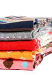 Several colors clothes stack Stock Images