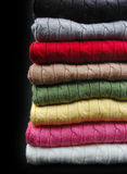 Several colors clothes stack Stock Photo