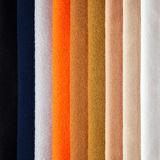 Several colors of fabrics Stock Photo