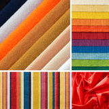 Several colors of fabrics Royalty Free Stock Image