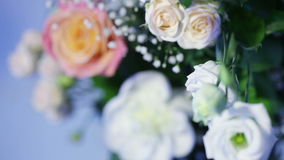 Several of colors at wedding arch stock video footage