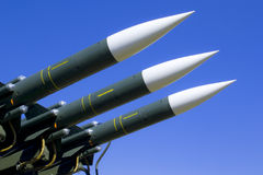 Several combat missiles Stock Images