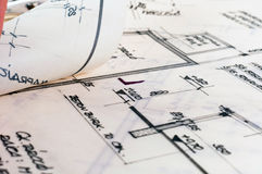 Several construction plans Royalty Free Stock Photography