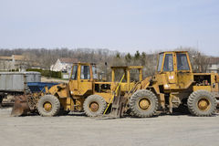 Several construction vehicles stock image