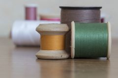 Several cotton reels Stock Image