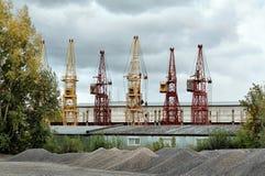 Several cranes Stock Photo