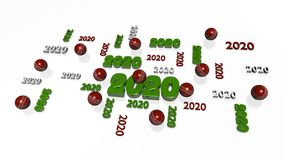 Several Cricket ball 2020 Designs with Some Balls. On a White Background vector illustration