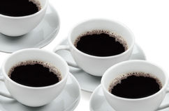 Several cups of coffee Stock Photos