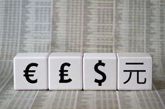 Several currencies Royalty Free Stock Photos