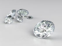 Several diamonds. Of different sizes Royalty Free Stock Image