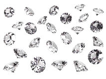 Several diamonds Stock Photos