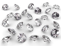 Several diamonds with soft shadows Royalty Free Stock Images