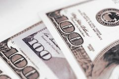 Different bank notes 100 dollars Royalty Free Stock Images