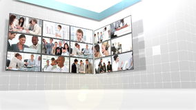 Several different clips of business people at work Stock Image