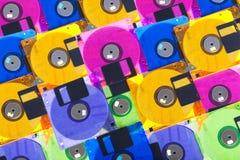 Several diskettes Stock Photos