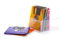 Several diskettes Royalty Free Stock Images