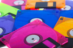 Several diskettes Stock Image