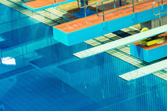Several diving boards. Royalty Free Stock Photo