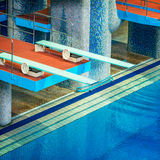 Several diving boards. Stock Images