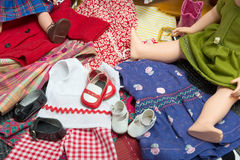 Several doll clothes Royalty Free Stock Photography