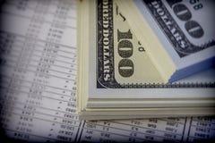 Several dollar bills, conceptual image Royalty Free Stock Photos
