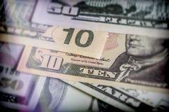 Several dollar bills, conceptual image Royalty Free Stock Images