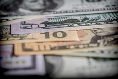 Several dollar bills, conceptual image Royalty Free Stock Photo