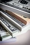 Several dollar bills, conceptual image Stock Photo