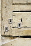 Several door locks stock image