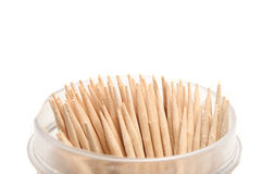 Several dozen toothpicks in plastic cups Stock Photography