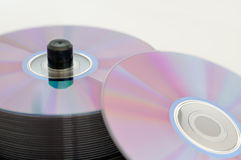 Several dvd Royalty Free Stock Image