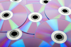 Several DVD / CD (rear) Royalty Free Stock Photography