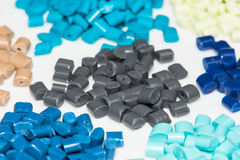 Several dyed polymer resins Stock Photos