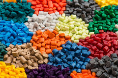 Several dyed polymer resins Royalty Free Stock Photos